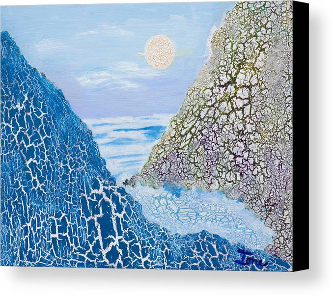 Ione Canvas Print featuring the painting First Frost by Ione Citrin