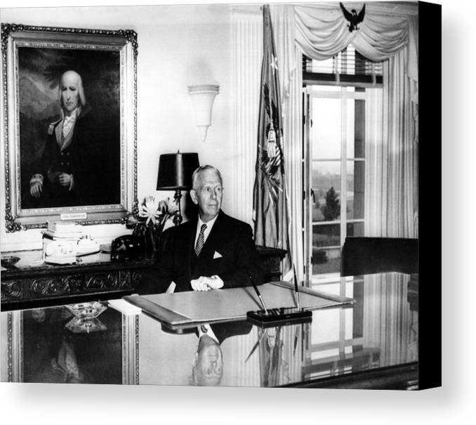 1950s Canvas Print featuring the photograph General George C. Marshall As Secretary by Everett