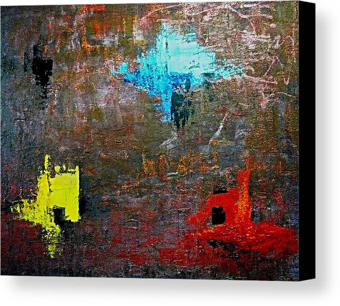 Abstract Canvas Print featuring the painting Goan Colorful Soil by Piety Dsilva