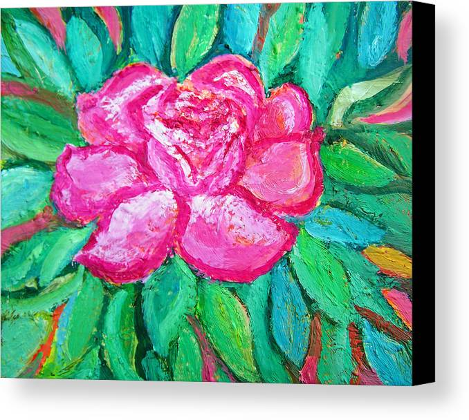 Rose Canvas Print featuring the painting In The Garden Of Happiness by Patricia Taylor