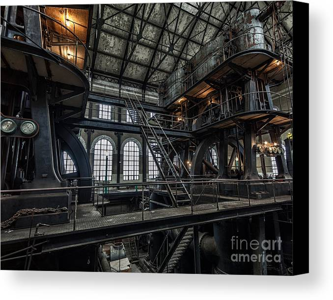 Steampunk Canvas Print featuring the photograph Wheels Of Industry by Phil Pantano