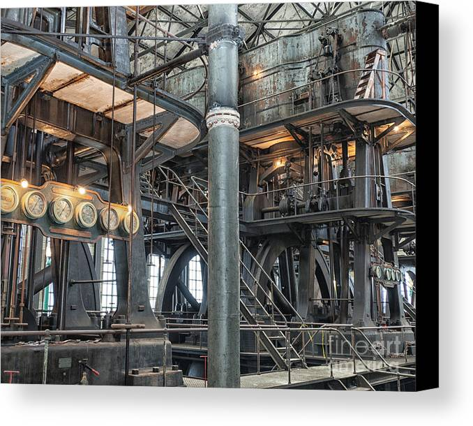 Steampunk Canvas Print featuring the photograph Industrial 8 by Phil Pantano