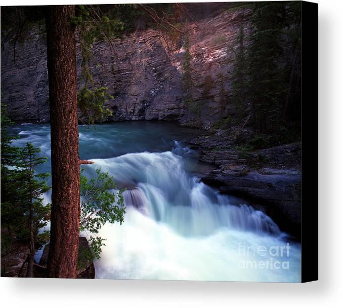 Maligne Canyon Canvas Print featuring the photograph Jasper - Maligne Canyon by Terry Elniski