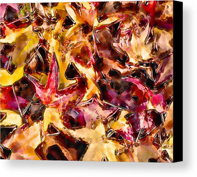 Glass Canvas Print featuring the digital art Leaves Of Glass by Marilyn Sholin