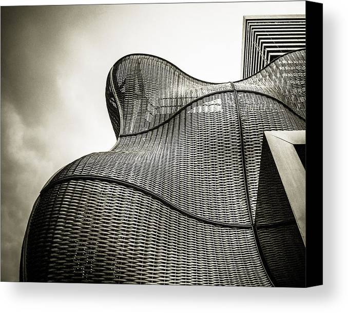 Architecture Canvas Print featuring the photograph Modern Basket Weaving In London by Lenny Carter