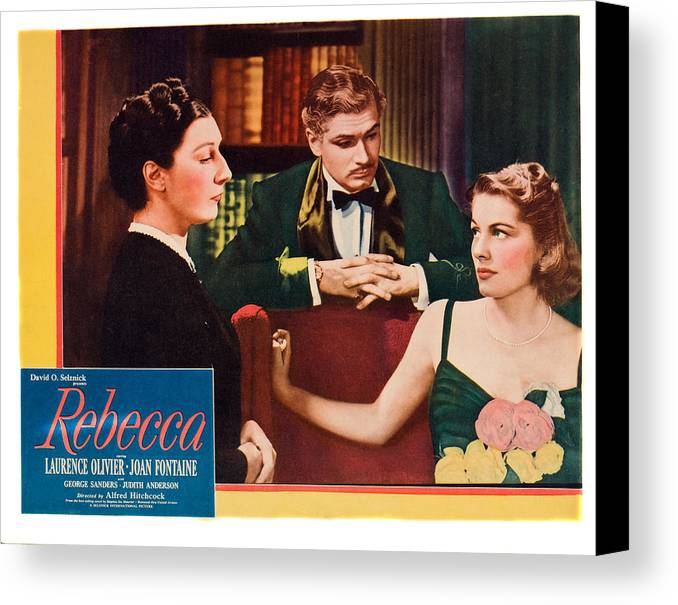 1940 Movies Canvas Print featuring the photograph Rebecca, From Left Judith Anderson by Everett