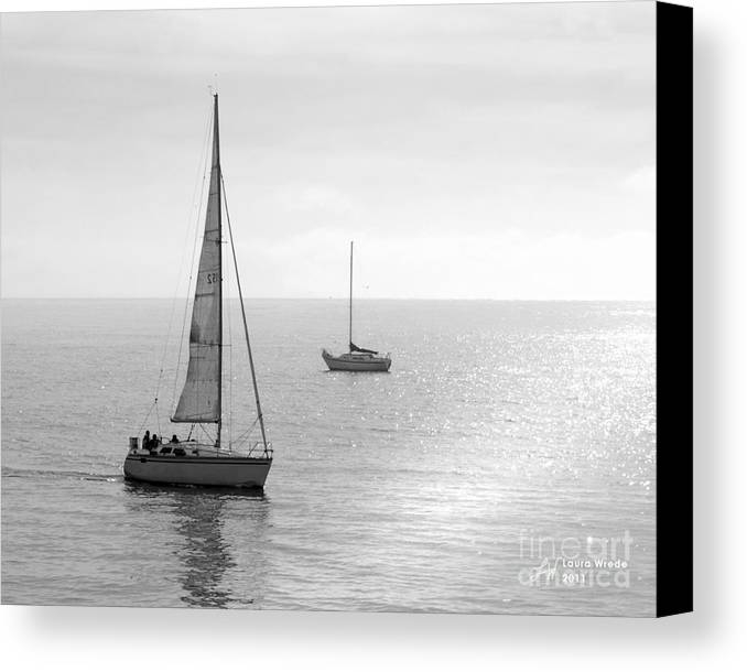 Sailing Canvas Print featuring the photograph Sailing In Calm Waters by Artist and Photographer Laura Wrede