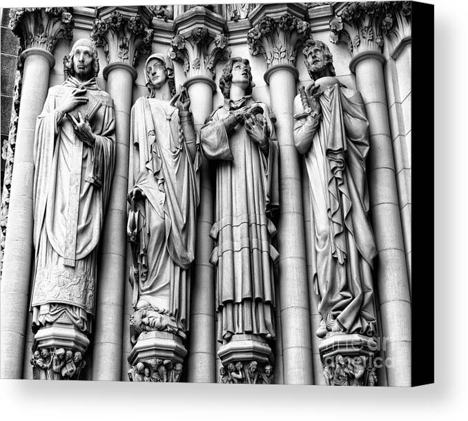Harlem Canvas Print featuring the photograph Saint John The Divine by Anne Raczkowski