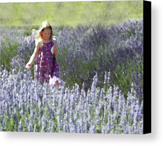 Lavender Canvas Print featuring the photograph Stroll Through The Lavender by Brooke T Ryan