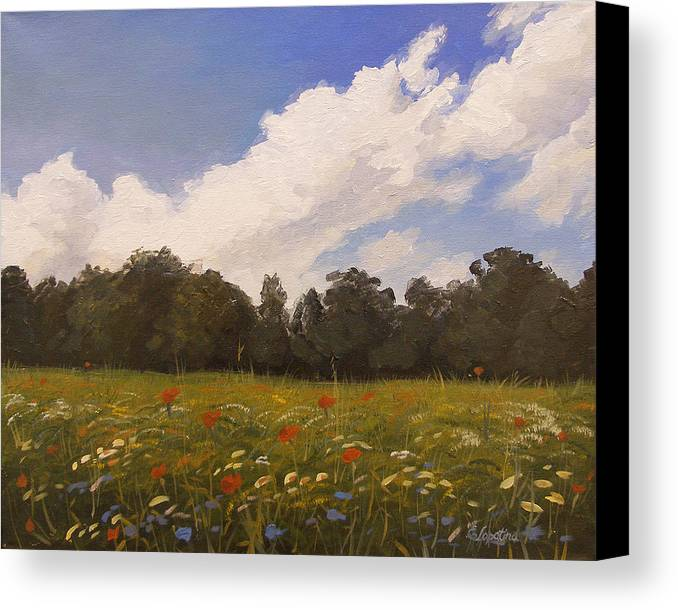 Summer Canvas Print featuring the painting Summer by Olena Lopatina