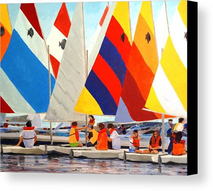 Sunfish Canvas Print featuring the painting Sunfish Bootcamp by Keith Wilkie
