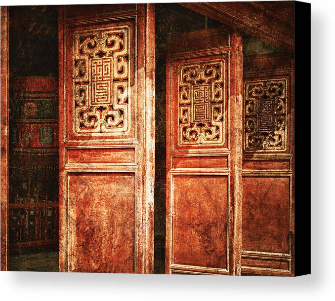 Art Canvas Print featuring the photograph Temple Door by Skip Nall