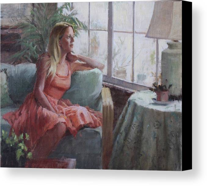 Figure Canvas Print featuring the painting Be Still My Soul by Hope Reis