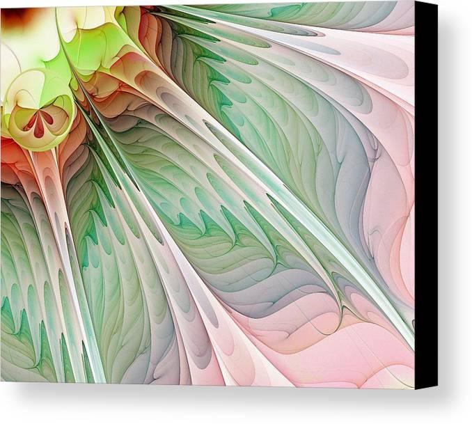 Digital Art Canvas Print featuring the digital art Petals by Amanda Moore