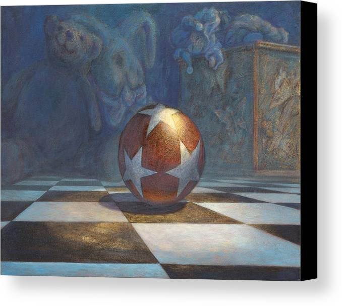 Leonard Filgate Canvas Print featuring the painting The Ball by Leonard Filgate