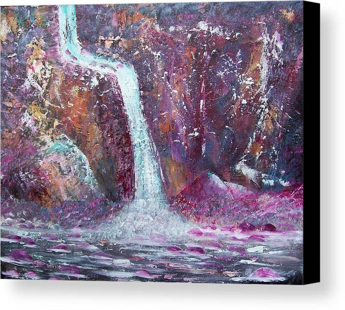 Abstract Canvas Print featuring the painting Waterfall by Tony Rodriguez
