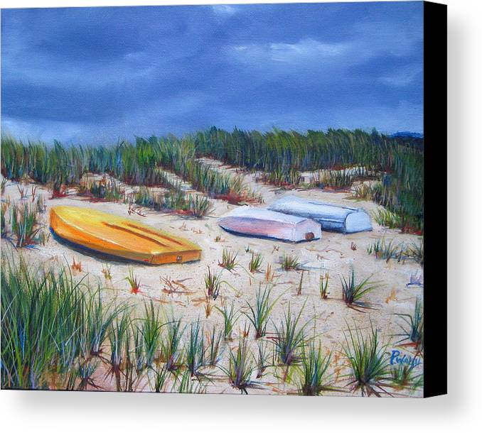 Cape Cod Canvas Print featuring the painting 3 Boats by Paul Walsh