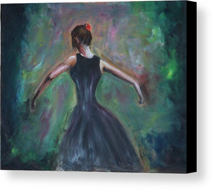 Dance Canvas Print featuring the painting The Dancer by Taly Bar