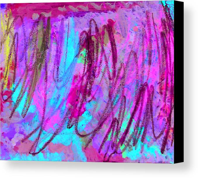 Abstract Canvas Print featuring the mixed media Abstract L by Kiely Holden
