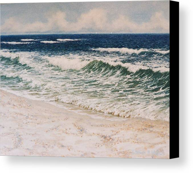 Seascape Canvas Print featuring the painting Alabama Coast by Steven Welch