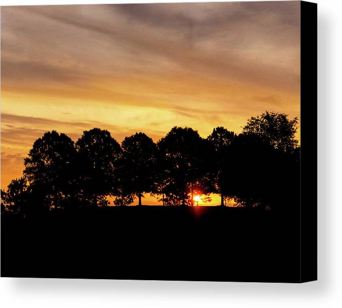 Alabama Canvas Print featuring the pyrography Alabama Sunrise by Mitford Fontaine