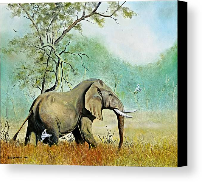 Wildlife Canvas Print featuring the painting Alert by Don Griffiths