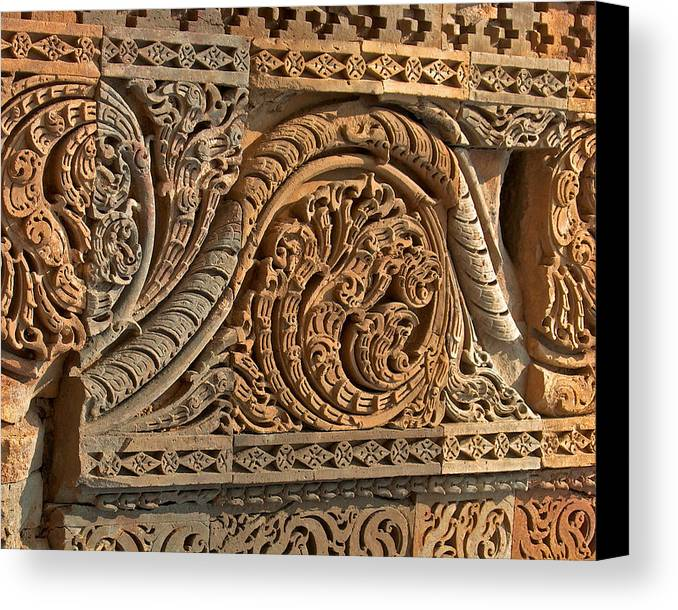 Wall Canvas Print featuring the photograph Ancient Wall by Dorota Nowak