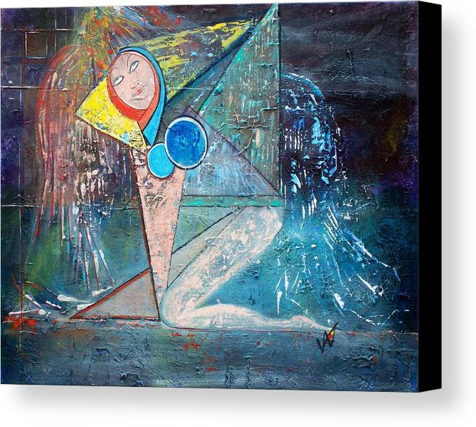 Abstract Canvas Print featuring the painting Angel - Study 2 by Valerie Wolf