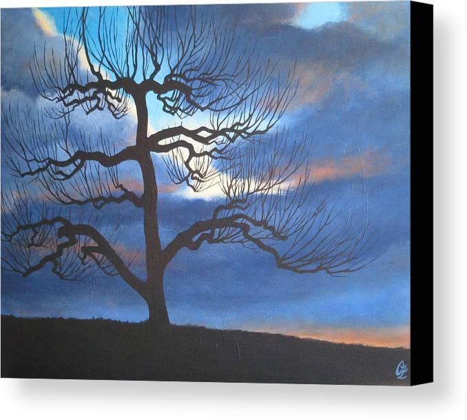 Apple Tree Canvas Print featuring the painting Apple Tree by Oksana Zotkina