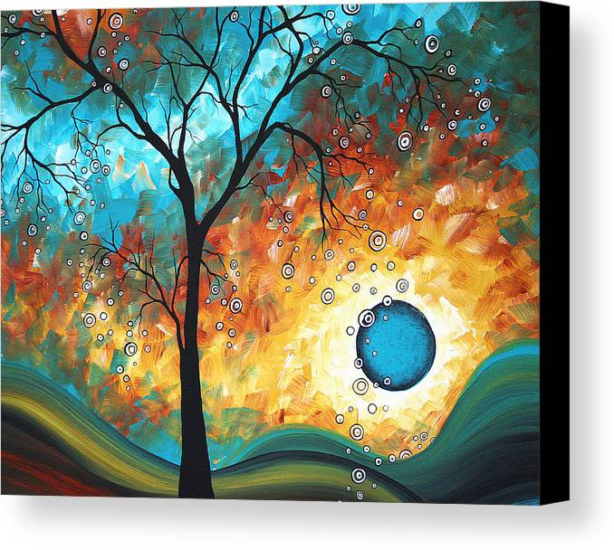Art Canvas Print featuring the painting Aqua Burn By Madart by Megan Duncanson