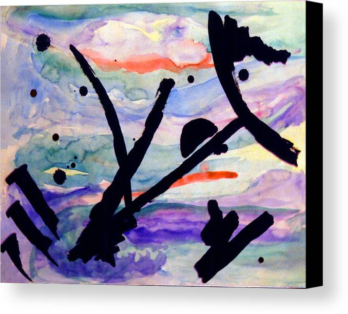 Abstract Canvas Print featuring the painting Asian Impression by Steve Karol