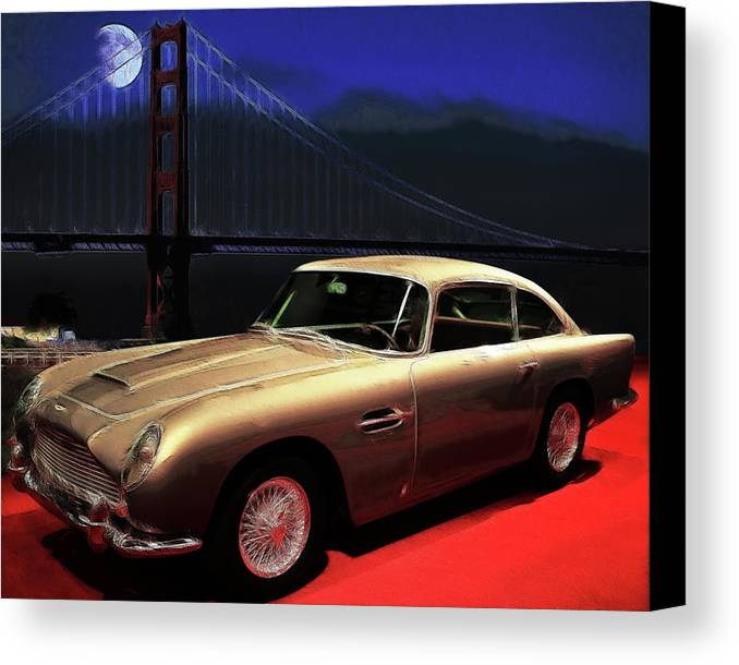 British Car Canvas Print featuring the photograph Aston Martin Db5 by Wingsdomain Art and Photography