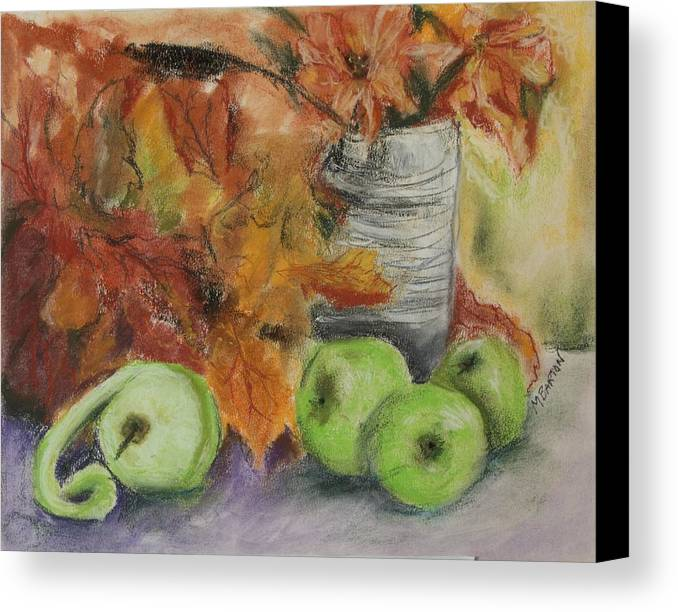 Autumn Colors Canvas Print featuring the painting Autumn Still Life by Marilyn Barton