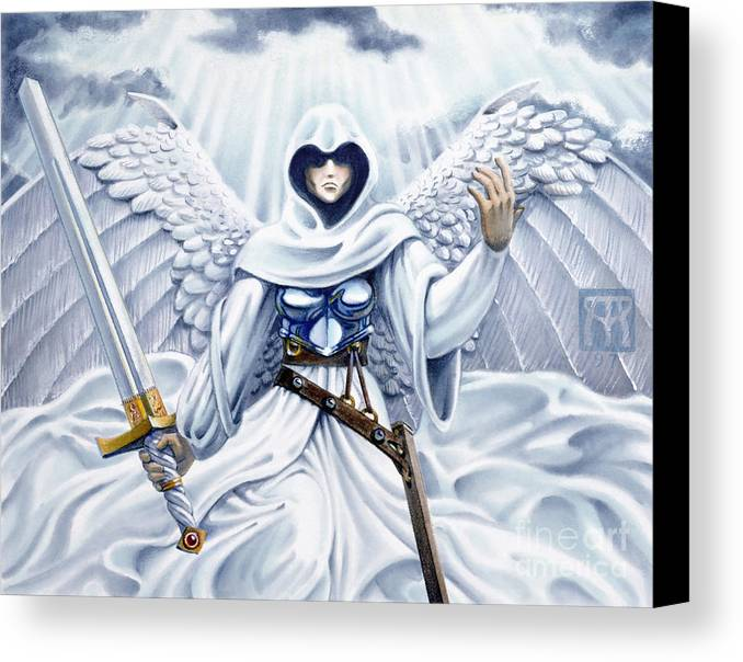 Angel Canvas Print featuring the painting Avenging Angel by Melissa A Benson