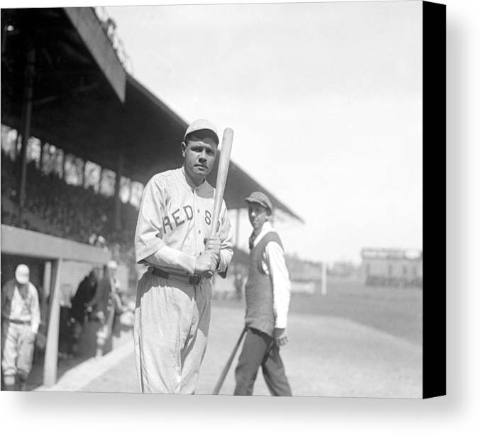 1910s Canvas Print featuring the photograph Babe Ruth, 1919 by Everett