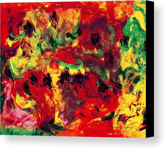Abstract Canvas Print featuring the painting Bain De Soleil by Dominique Boutaud