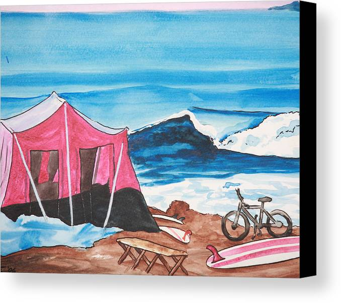 Surf Canvas Print featuring the painting Baja Boogie by Ronnie Jackson