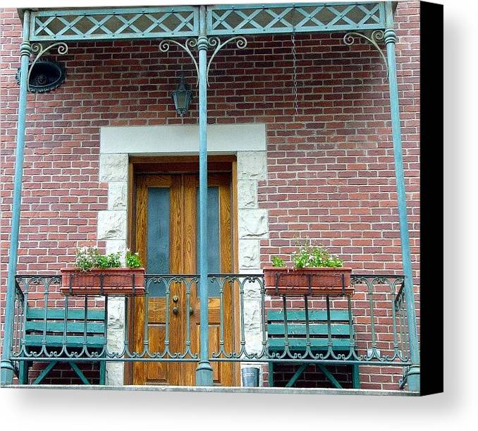 Architect Canvas Print featuring the photograph Balcony by Kenna Westerman