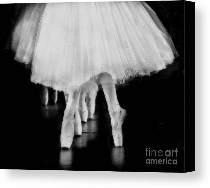 Ballet Canvas Print featuring the photograph Ballet Black And White by Kevin Moore