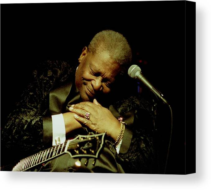 Bb King Canvas Print featuring the photograph Bb King - Straight From The Heart by Bob Guthridge