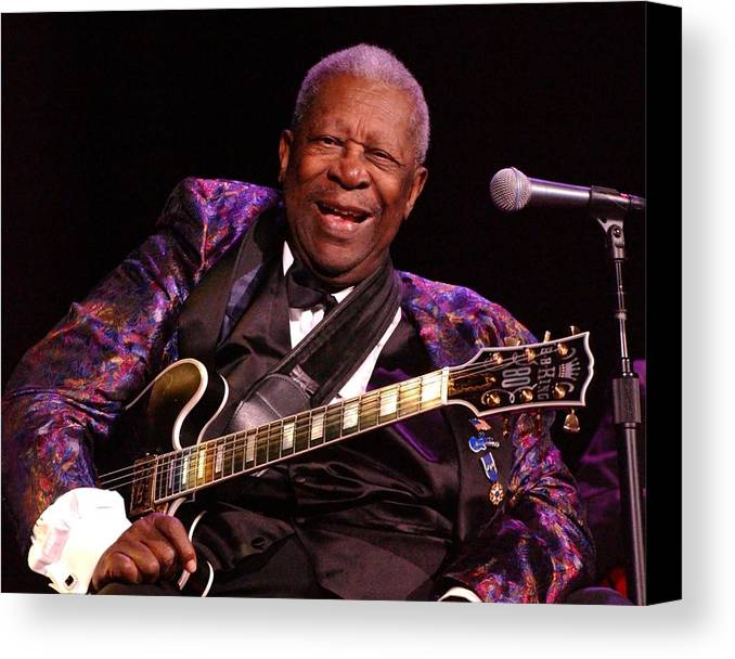 Bb King Canvas Print featuring the photograph Bb King 2008 by Bob Guthridge