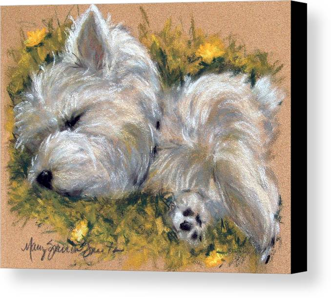Art Canvas Print featuring the painting Beautiful Dreamer by Mary Sparrow