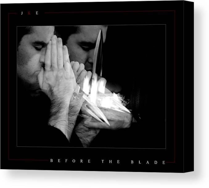 Self Portrait Canvas Print featuring the photograph Before The Blade by Jonathan Ellis Keys