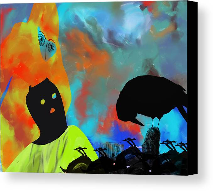 Nature Canvas Print featuring the painting Bird Flu by Ann Tracy
