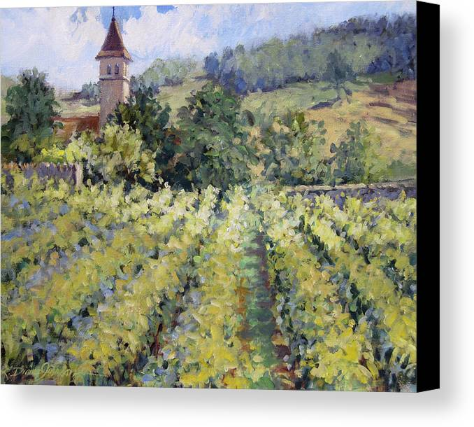 France Canvas Print featuring the painting Bless The Harvest by L Diane Johnson