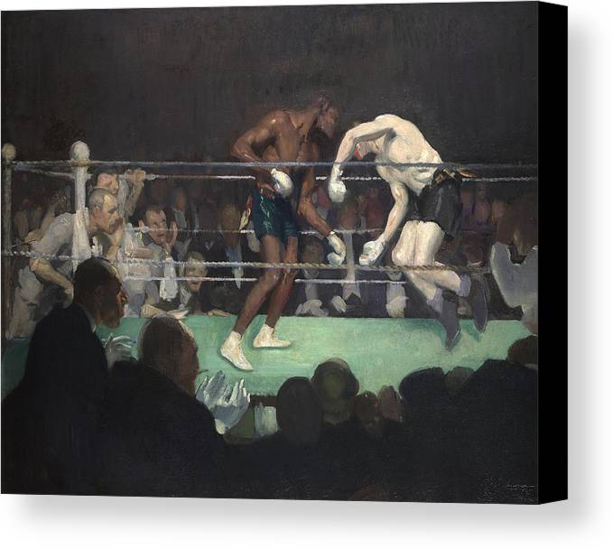 Boxing Canvas Print featuring the painting Boxing Match by George Luks