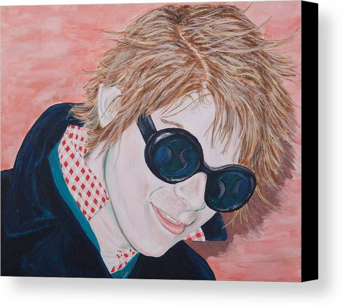 Portrait Canvas Print featuring the painting Brad by Kevin Callahan