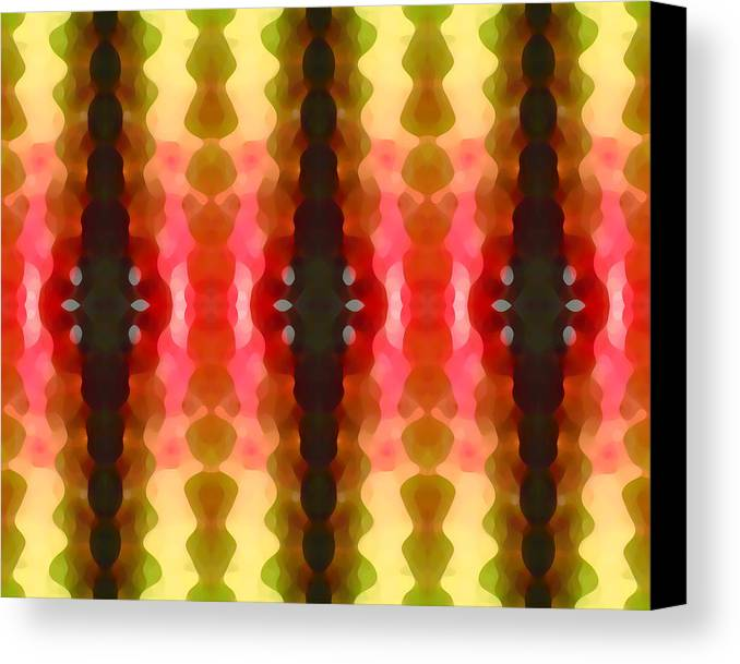 Abstract Canvas Print featuring the painting Cactus Vibrations 2 by Amy Vangsgard