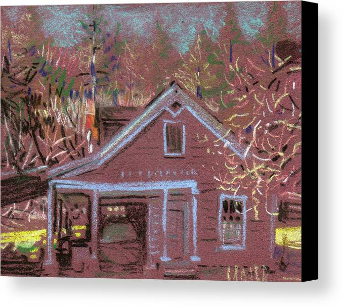 Carriage House Canvas Print featuring the drawing Carriage House by Donald Maier