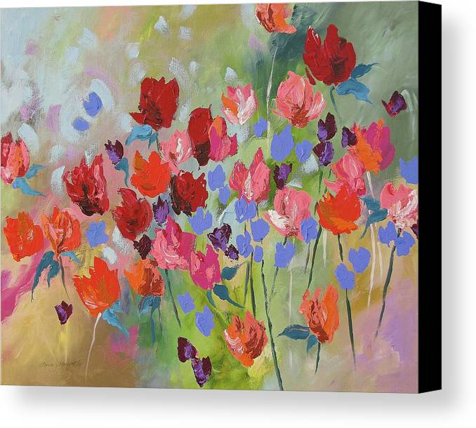 Original Canvas Print featuring the painting Celebrate by Linda Monfort